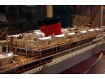 Builder's model of the Union Castle motor ship Winchester Castle 1930-1960 as rebuilt with a single funnel in 1938.